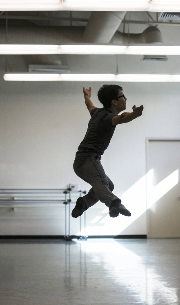 "Nevada Ballet Theatre's Jun Tanabe rehearses ""Company B"" on Friday, Nov. 3, 2017, in Las Vegas. Benjamin Hager Las Vegas Review-Journal @benjaminhphoto"