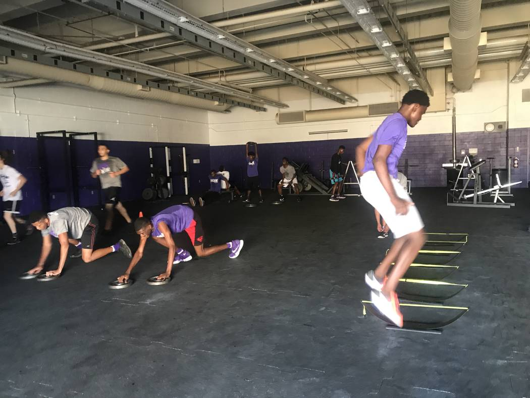 Durango High School varsity basketball players during W.O.D.E practice on October 31, 2017 at 7100 W. Dewey Drive. (Kailyn Brown/View) @KailynHype