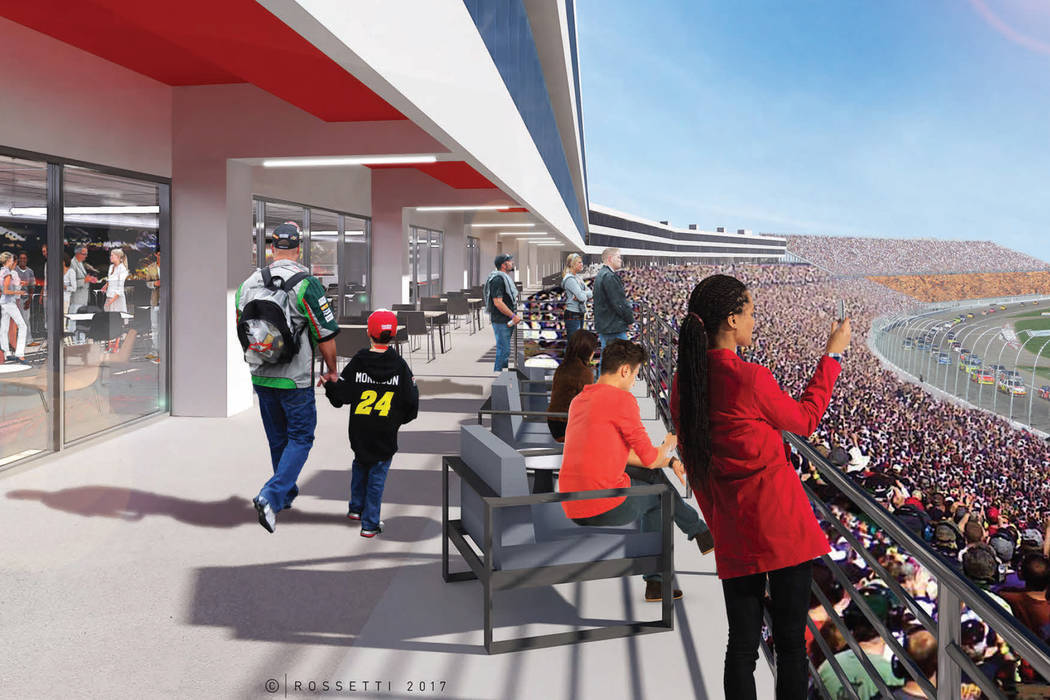 A rendering of Las Vegas Motor Speedway's planned clubhouse level. (Las Vegas Motor Speedway)