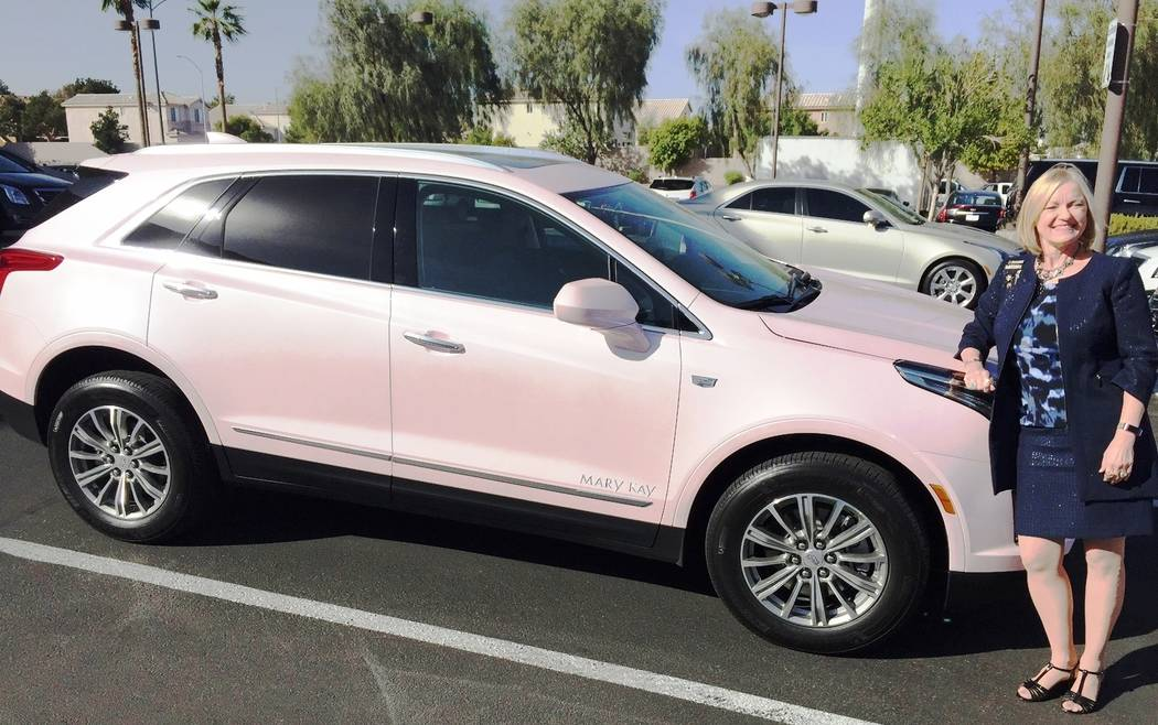 Findlay Cadillac Mary Kay independent sales director Cheryl Gainsford recently earned the use of a 2018 XT5 for two years after recording top honors with the company.