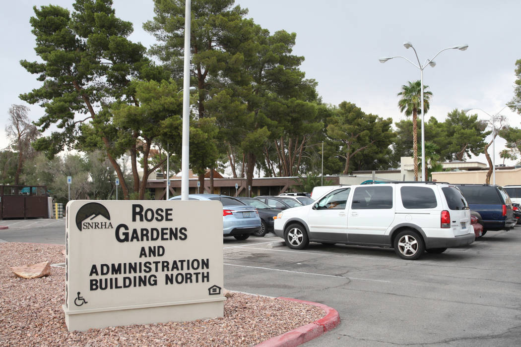 The Rose Gardens senior public housing complex is located off of Yale Street and East Tonopah Avenue North Las Vegas, on Thursday, Sept. 7, 2017. Gabriella Angotti-Jones Las Vegas Review-Journal @ ...