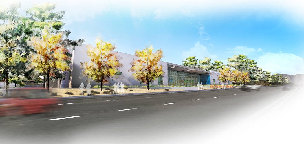 The East Las Vegas Library will be 41,000 square feet, with a multipurpose room, family activity space and a Workforce Connections center.