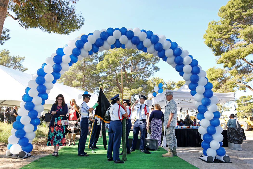 Individuals attend the Las Vegas-Clark County Library District groundbreaking of the new East Las Vegas Library branch in Las Vegas, Thursday, Nov. 2, 2017. Elizabeth Brumley Las Vegas Review-Jour ...