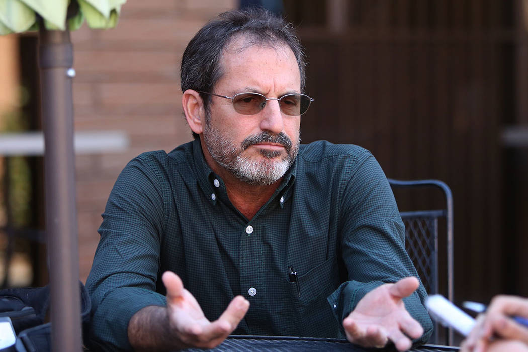 David Becker speaks during an interview on Wednesday, Nov. 1, 2017, in Las Vegas. Becker was photographing the Route 91 Music Festival when a gunman on the 32nd floor of Mandalay Bay fired on a co ...