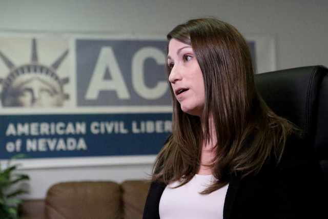 Amy Rose, legal director of the ACLU of Nevada (Michael Quine/Las Vegas Review-Journal) @Vegas88s