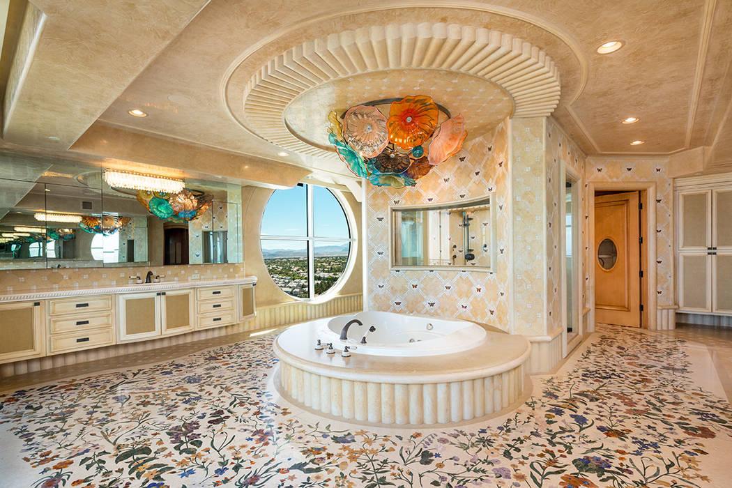 The master bath is a work of art. (Luxury Estates International)