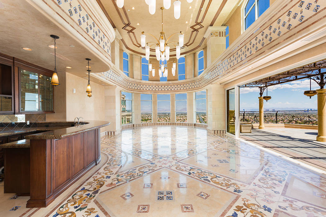 This Crown Penthouse features many different patterns of tile work. (Luxury Estates International)
