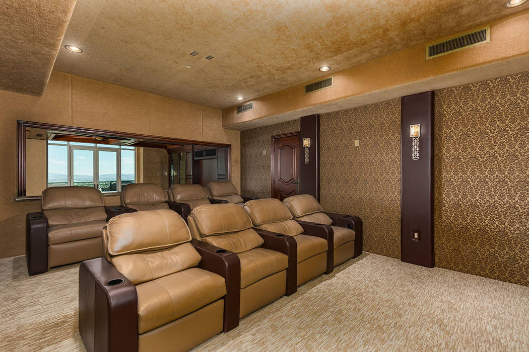 The home theater. (Luxury Estates International)