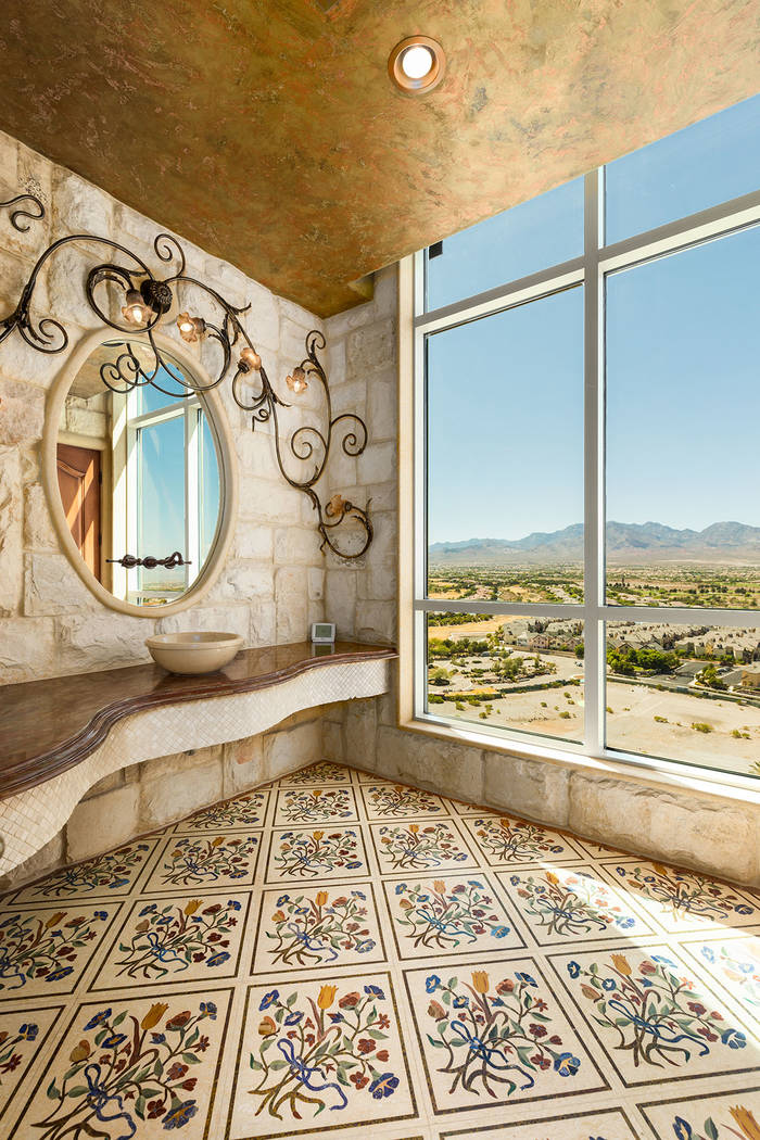 The home features a variety of tile designs. (Luxury Estates International)