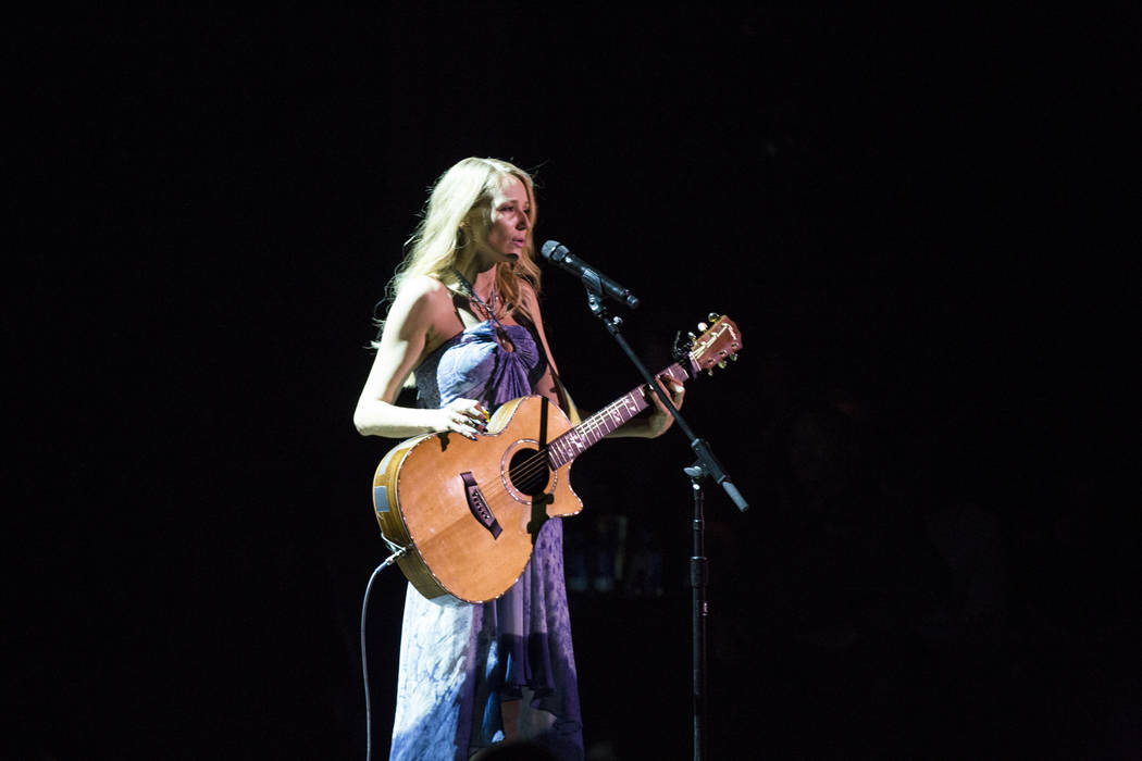 """Singer-songwriter Jewel performs her song """"Hands"""" at a charity concert event presented by Sands Cares at the Palazzo on Friday, May 19, 2017. Patrick Connolly Las Vegas Review-Jo ..."""