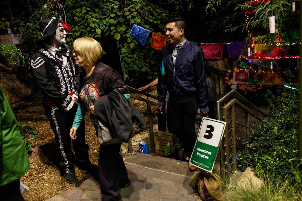 Arturo Reyna of Las Vegas, 29, greets visitors during a Dia de los Muertos event at Springs Preserve in Las Vegas, Sunday, Nov. 5, 2017. Joel Angel Juarez Las Vegas Review-Journal @jajuarezphoto