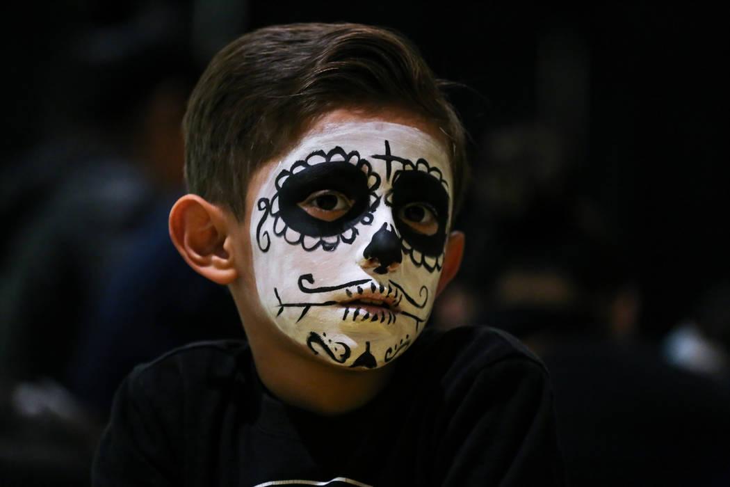 Saed Robinson of Las Vegas, 8, at a Dia de los Muertos event at Springs Preserve in Las Vegas, Sunday, Nov. 5, 2017. Joel Angel Juarez Las Vegas Review-Journal @jajuarezphoto