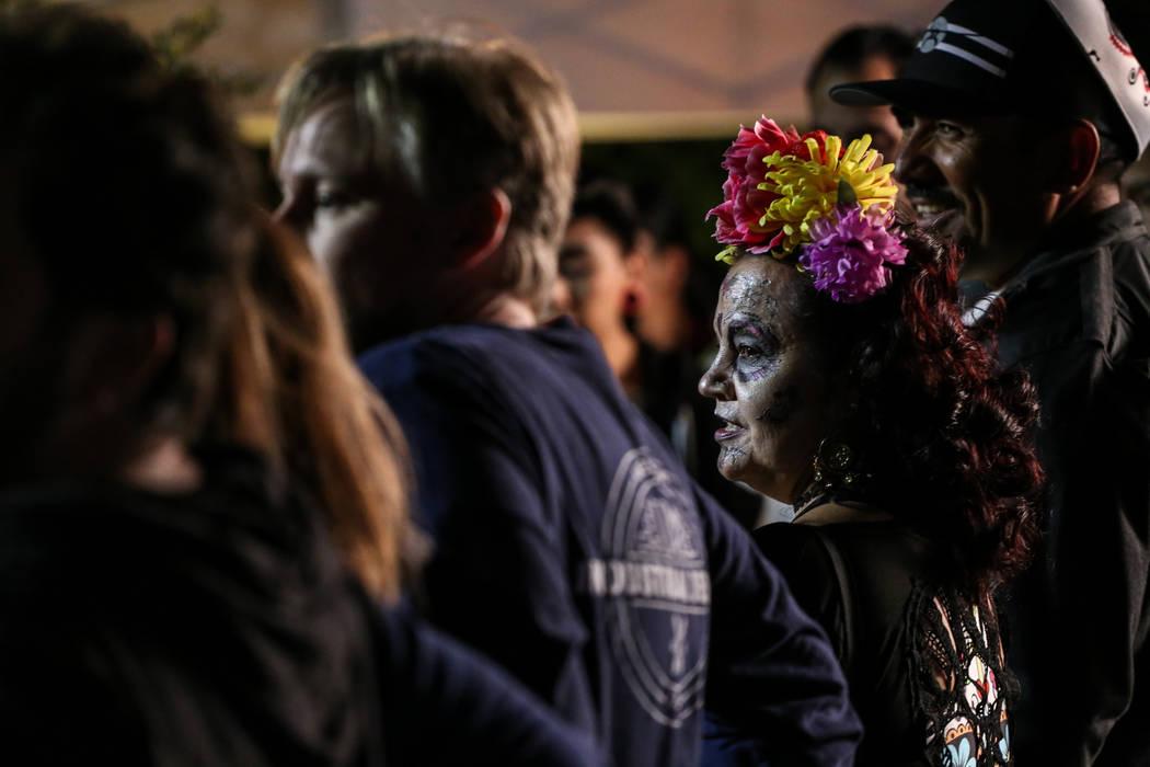 Carina Robles of Las Vegas, 55, at a Dia de los Muertos event at Springs Preserve in Las Vegas, Sunday, Nov. 5, 2017. Joel Angel Juarez Las Vegas Review-Journal @jajuarezphoto