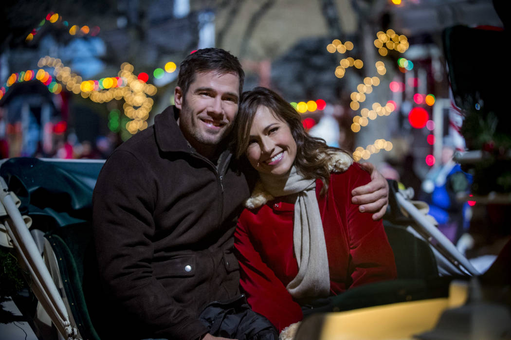 A successful New York businesswoman learns her beloved late Grandmother has left her 'Christmas Land', a magical Christmas themed village in the country side.  Photo: Luke Macfarlane, Nikki Deloac ...