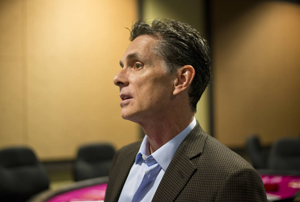 Professor Tony Lucas speaks with a reporter inside the Gaming Lab at the International Gaming Institute on the UNLV campus on Wednesday, Nov. 9, 2017. Daniel Clark/Las Vegas Review-Journal Follow  ...