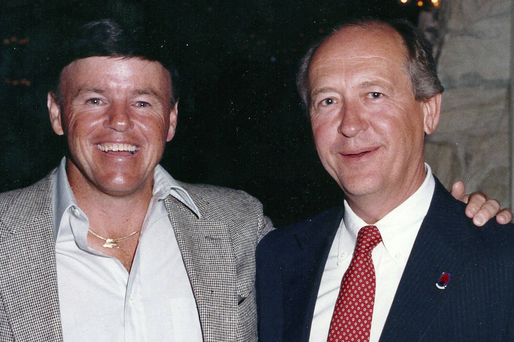 Jim Colbert (left) and Tom Hartley were key figures in making the 1983 Las Vegas Pro-Celebrity Classic, now known as the Shriners Hospitals for Children Open, the first million-dollar purse in PGA ...