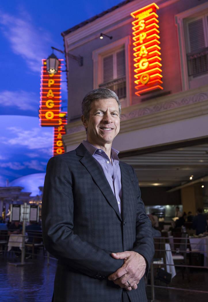Tom Kaplan, senior managing partner at Wolfgang Puck Fine Dining, at Spago on Friday, Nov. 3, 2017, at Caesars Palace hotel-casino, in Las Vegas. Benjamin Hager Las Vegas Review-Journal @benjaminh ...