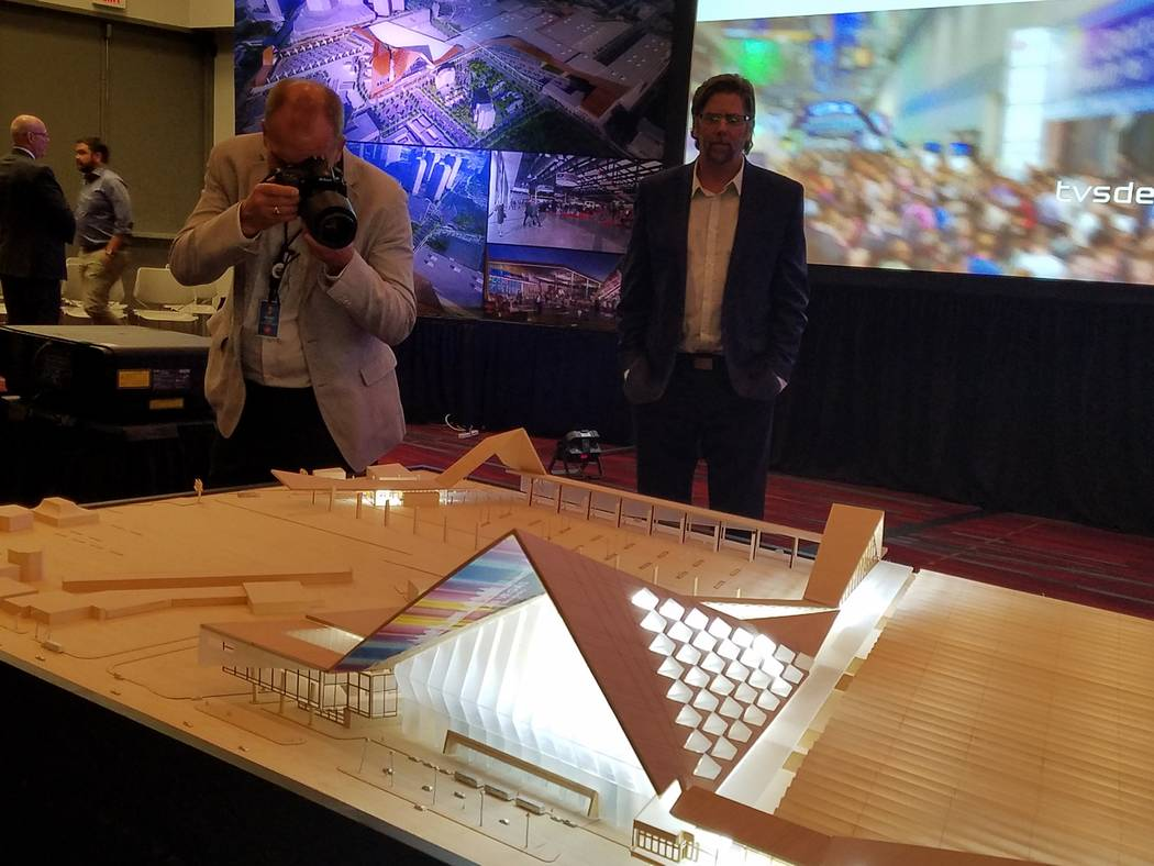 A photographer captures a shot of a model presented by TVS Design at its Oct. 25, 2017, presentation at the Las Vegas Convention Center. Richard N. Velotta/Las Vegas Review-Journal
