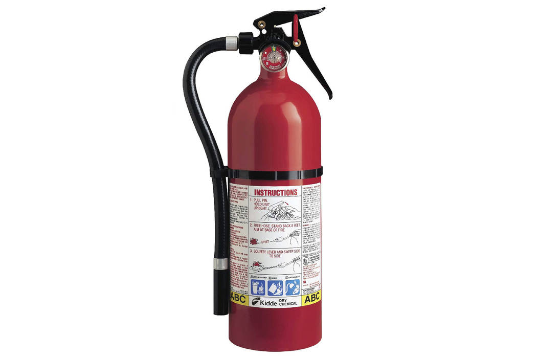 This photo from the U.S. Consumer Product Safety Commission website shows a Kidde plastic handle fire extinguisher. (U.S. Consumer Product Safety Commission via AP)