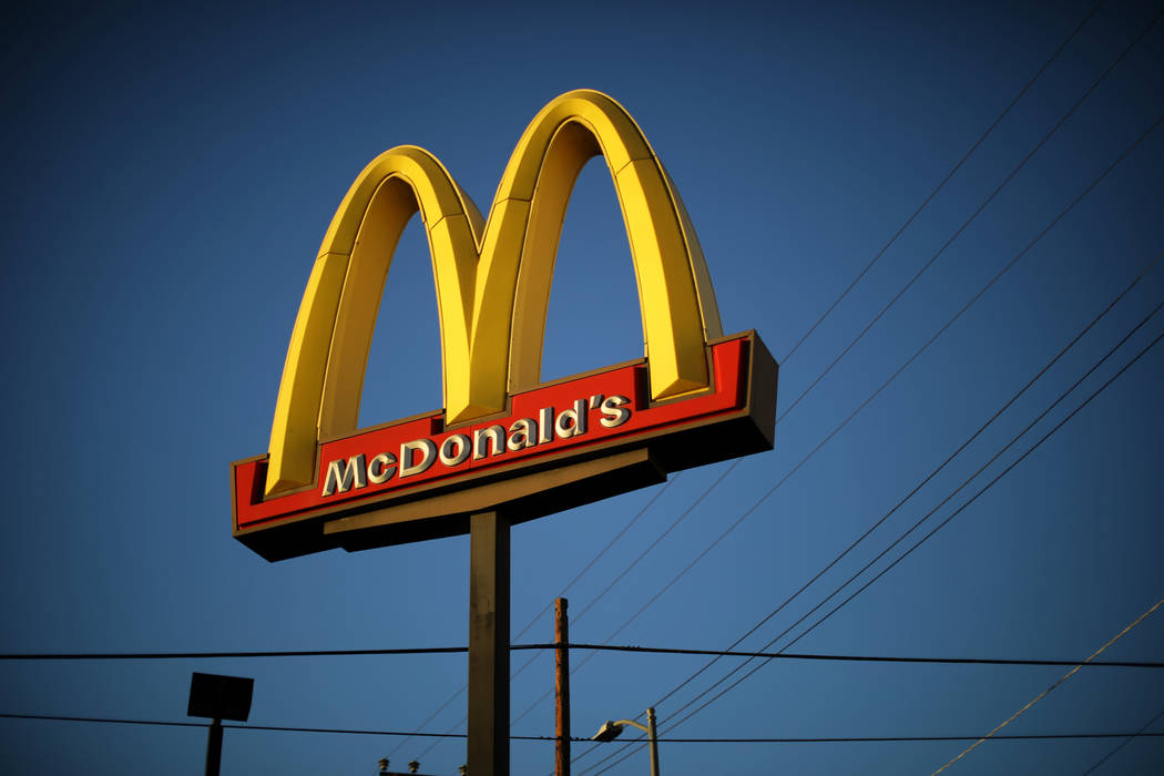 The logo of a McDonald's Corp restaurant is seen in Los Angeles, California, U.S. October 24, 2017. (REUTERS/Lucy Nicholson)