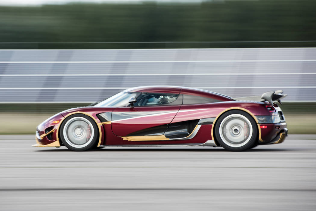 An 11-mile section of state Route 160 between Las Vegas and Pahrump will close Saturday and Sunday as Swedish supercar company Koenigsegg attempts to set the world record for the fastest productio ...