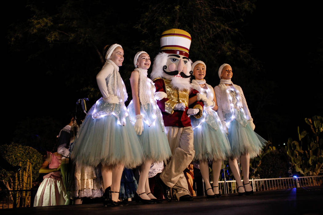 Students from Nevada Ballet Theatre's Academy perform on stage during the 24th Annual Holiday Cactus Garden in Henderson, Tuesday, Nov. 7, 2017. Joel Angel Juarez Las Vegas Review-Journal @jajuare ...