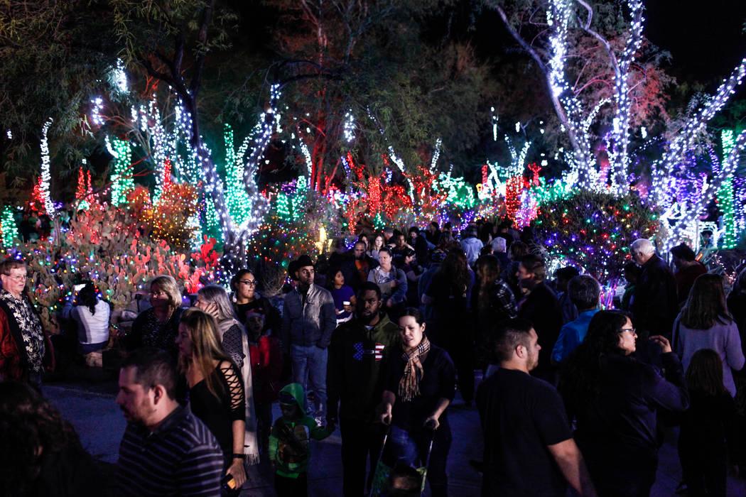 Crowds gather during the 24th Annual Holiday Cactus Garden in Henderson, Tuesday, Nov. 7, 2017. Joel Angel Juarez Las Vegas Review-Journal @jajuarezphoto