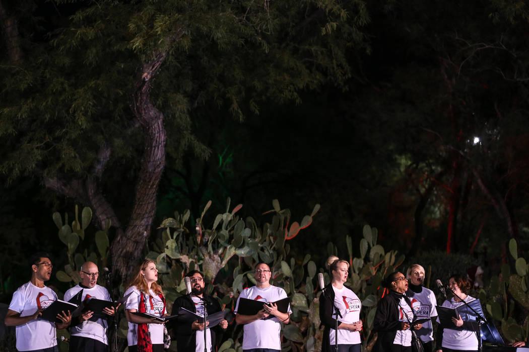 Sin City Opera performs during the 24th Annual Holiday Cactus Garden in Henderson, Tuesday, Nov. 7, 2017. Joel Angel Juarez Las Vegas Review-Journal @jajuarezphoto