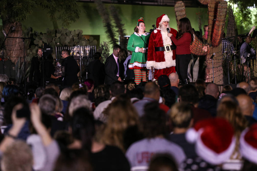 Santa Claus stands on stage during the 24th Annual Holiday Cactus Garden in Henderson, Tuesday, Nov. 7, 2017. Joel Angel Juarez Las Vegas Review-Journal @jajuarezphoto