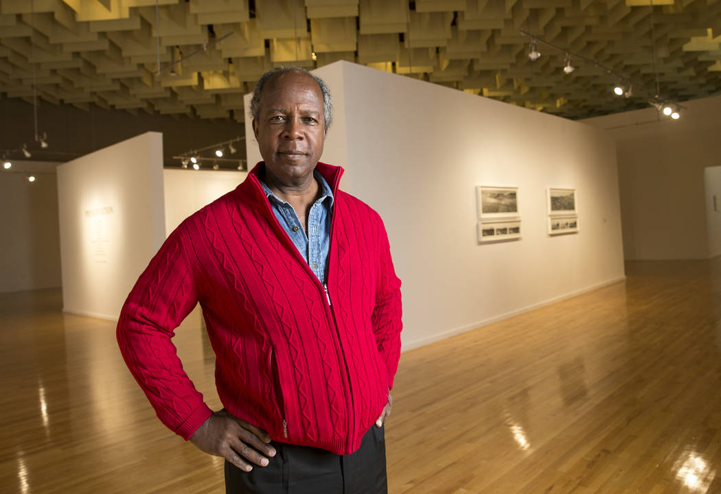 Film professor and actor Clarence Gilyard poses in Marjorie Barrick Museum of Art at UNLV in Las Vegas, Tuesday, Oct. 31, 2017. Richard Brian Las Vegas Review-Journal @vegasphotograph