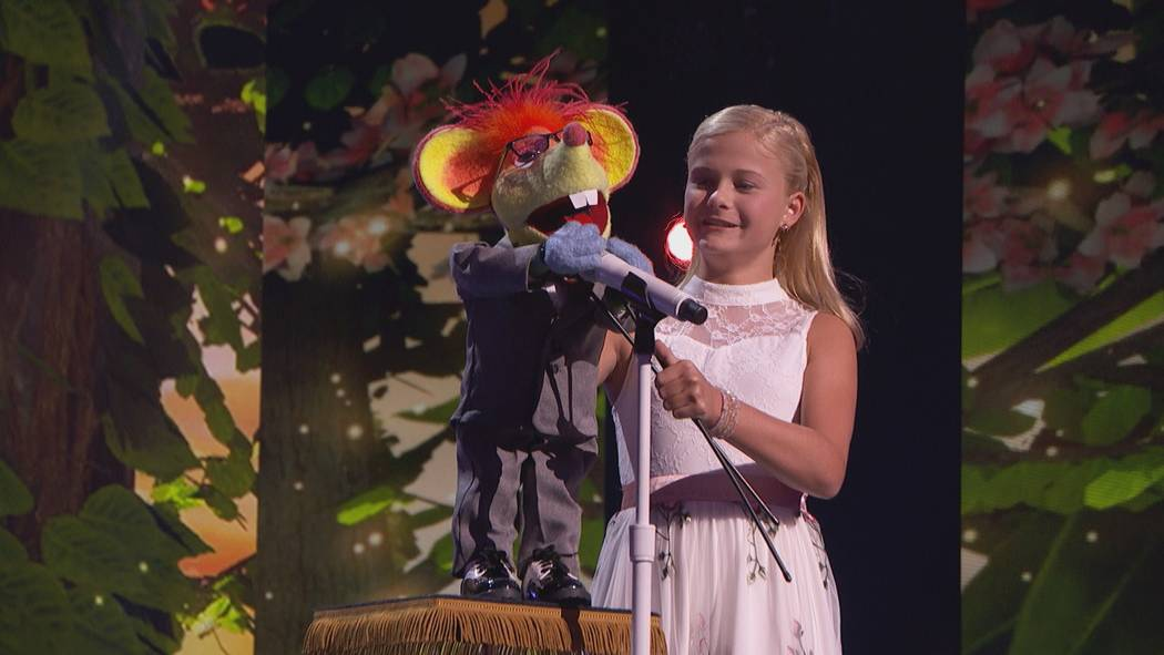 "Kid ventriloquist Darci Lynne wraps up a sold-out, four-night run of ""America's Got Talent Live"" at Planet Hollywood Nov. 5. (Fremantle TV)"