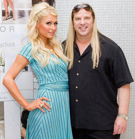 Celebrity stylist Michael Boychuck works on Paris Hilton's hair. He announced a partnership with a South Korea-based E&M Co. to launch a global line of hair care products. (Color Salon)