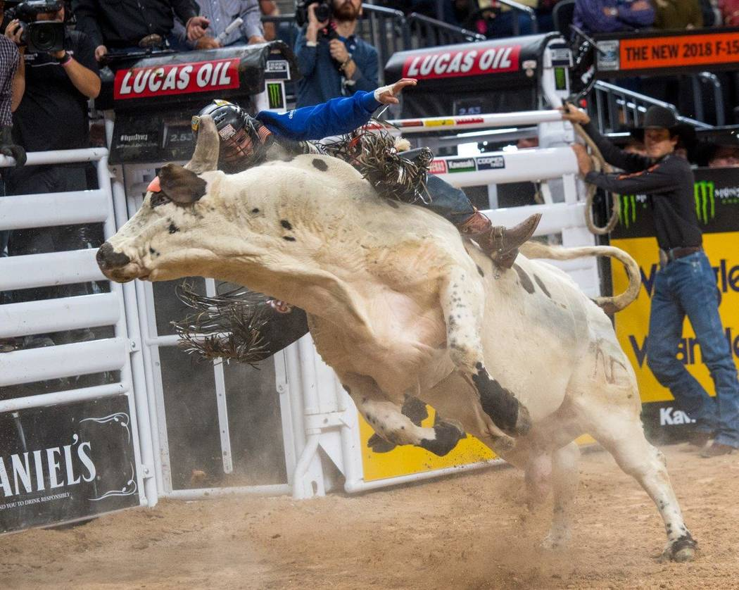 The Professional Bull Riders World Finals kicked off Nov. 2 at the T-Mobile Arena. (Tom Donoghue)