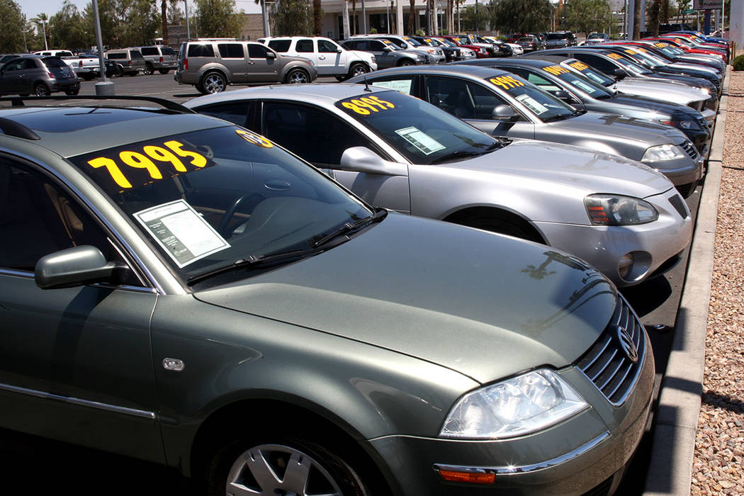 Auto sales contributed to gains in August taxable sales in Nevada. (Las Vegas Review-Journal)