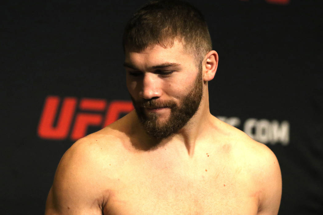 UFC light heavyweight fighter Ion Cutelaba at UFC 217 official weigh-ins at the Stewart Hotel in New York, New York, Friday, Nov. 3, 2017. Heidi Fang Las Vegas Review-Journal @HeidiFang
