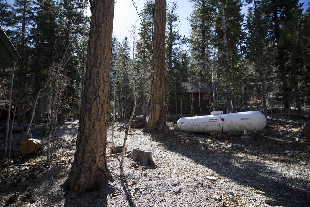 A propane tank at the Foxtail Girl Scout Camp at Lee Canyon. Erik Verduzco Las Vegas Review-Journal @Erik_Verduzco