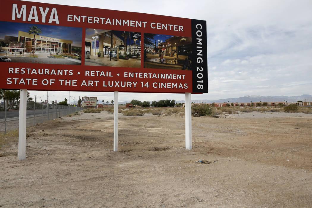 A 14-screen Maya Cinemas and entertainment center construction site at 2195 Las Vegas Blvd. North, across the street from North Las Vegas City Hall, on Monday, Nov. 6, 2017. (Bizuayehu Tesfaye/Las ...