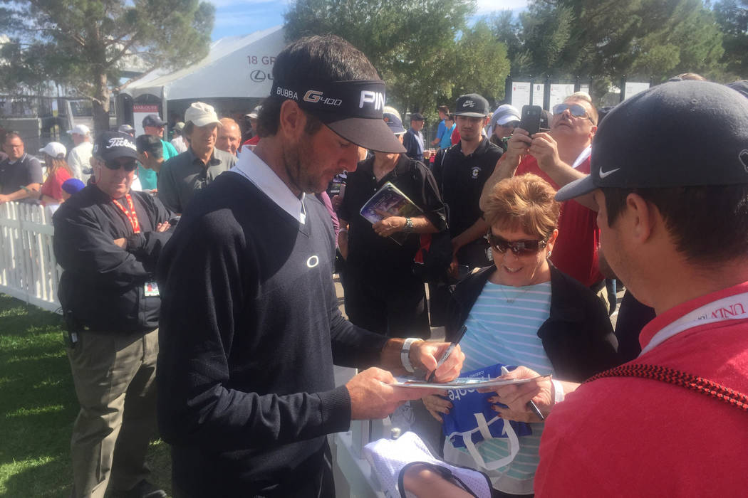 Bubba Watson signs autographs after round two of the Shriners Hospitals for Children Open. Photo by Brian Hurlburt/Special to the Review-Journal