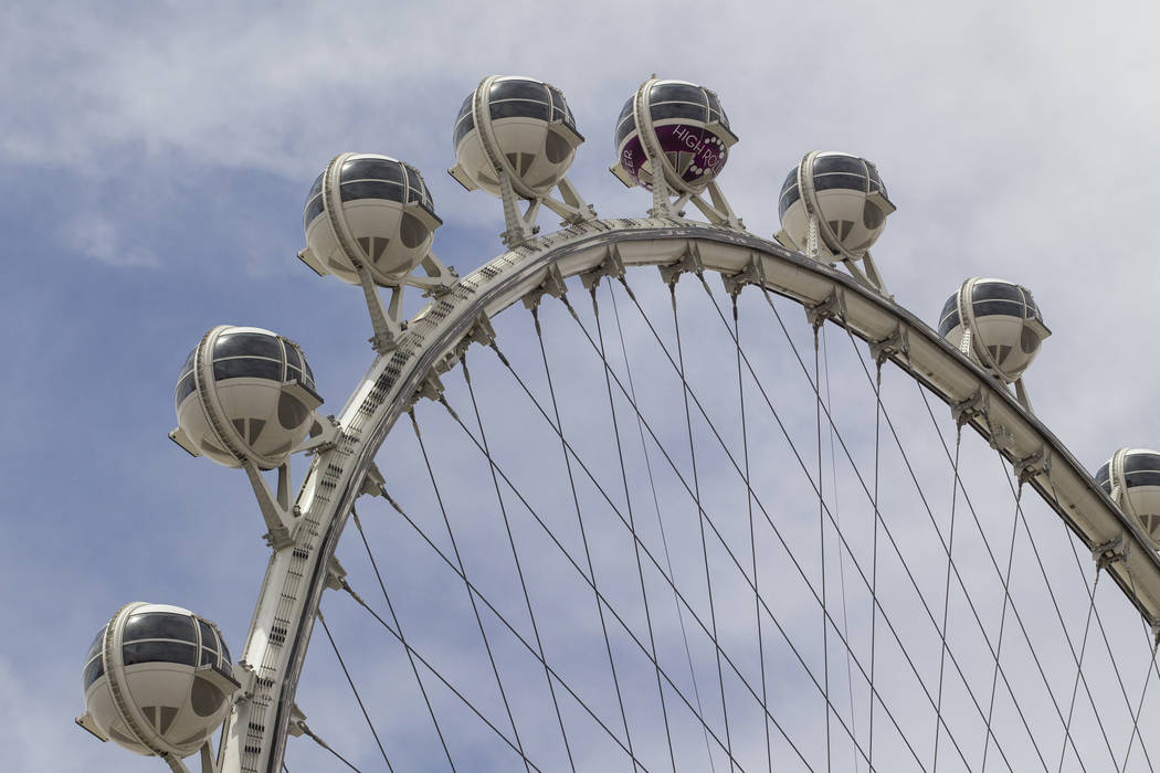 The High Roller observation wheel at the LINQ Promenade in Las Vegas on Thursday, June 8, 2017. Richard Brian Las Vegas Review-Journal @vegasphotograph