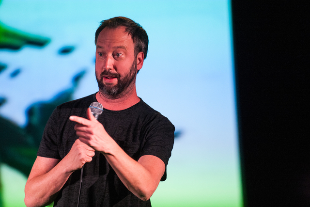 Tom Green performs at Vinyl at the Hard Rock Hotel in Las Vegas on Friday, March 14, 2014. (Chase Stevens/Las Vegas Review-Journal)