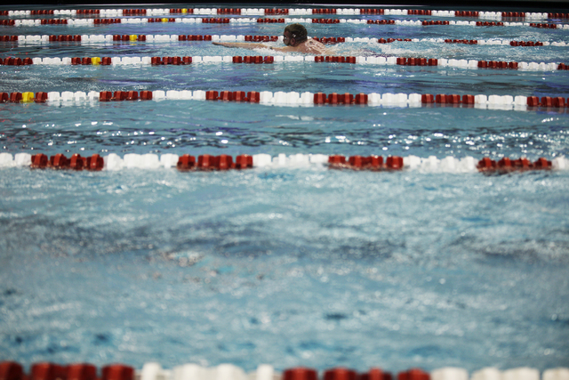 The UNLV men's and women's swimming and diving teams are participating in the 14-team Texas Invitational through Saturday. (Rachel Aston/Las Vegas Review-Journal) @rookie__rae