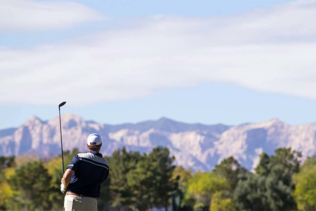 The final round of the Shriners Open at TPC Summerlin in Las Vegas is under way. Richard Brian Las Vegas Review-Journal @vegasphotograph