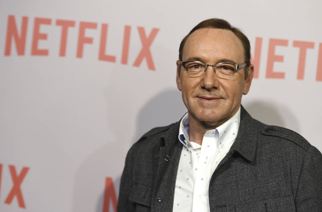 """FILE - In this April 27, 2015 file photo, Kevin Spacey arrives at the Q&A Screening of """"The House Of Cards"""" at the Samuel Goldwyn Theater in Beverly Hills, Calif. Netflix say ..."""