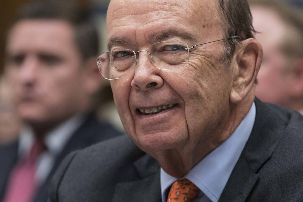 FILE - In this Thursday, Oct. 12, 2017, file photo, Commerce Secretary Wilbur Ross appears before the House Committee on Oversight and Government Reform to discuss preparing for the 2020 Census, o ...