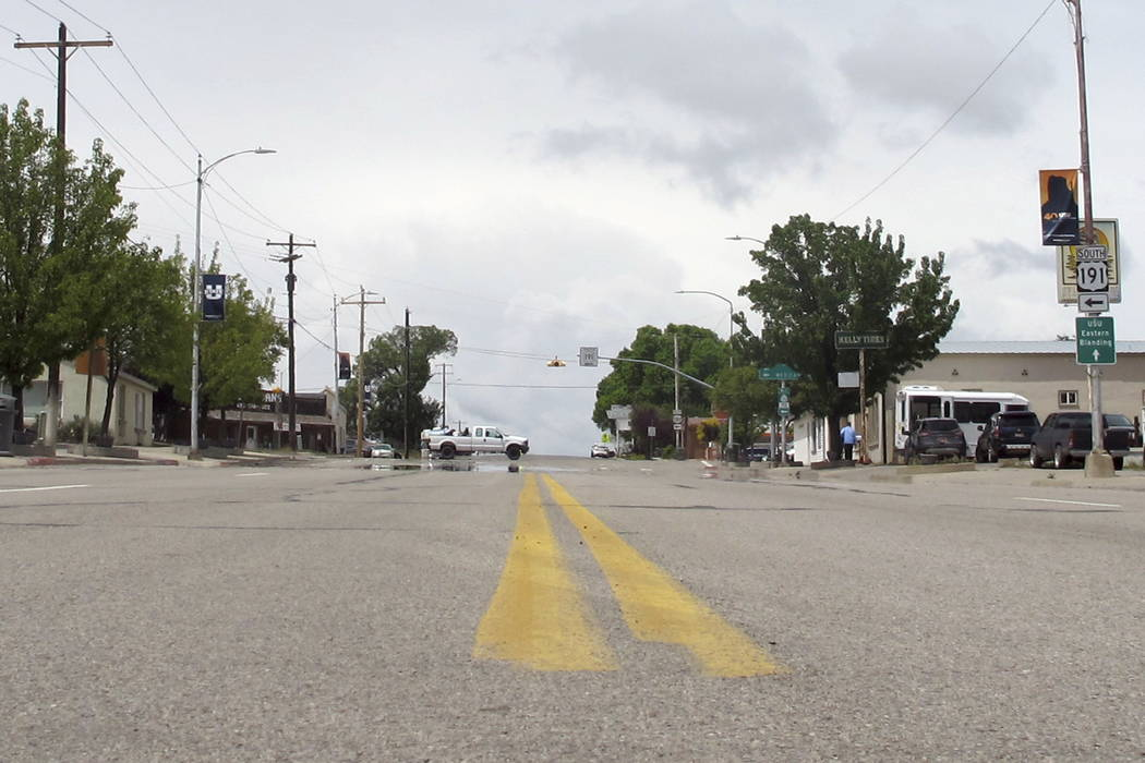 A street in downtown Blanding, Utah, is seen in May. (Michelle L. Price/Associated Press)