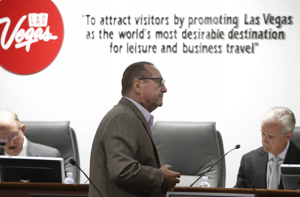 Las Vegas Convention and Visitors Authority President Rossi Ralenkotter during a monthly board meeting on Tuesday, July 11, 2017. Bizuayehu Tesfaye Las Vegas Review-Journal @bizutesfaye