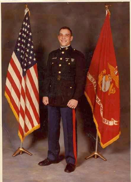Yonel Dorelis in a 1984 Marine Corps portrait.