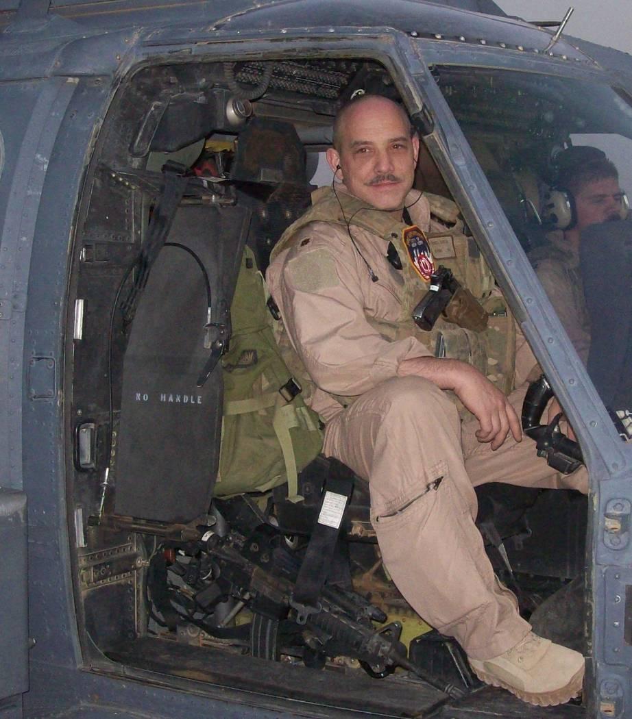 Yonel Dorelis on a 2009 mission in the Iraqi desert.