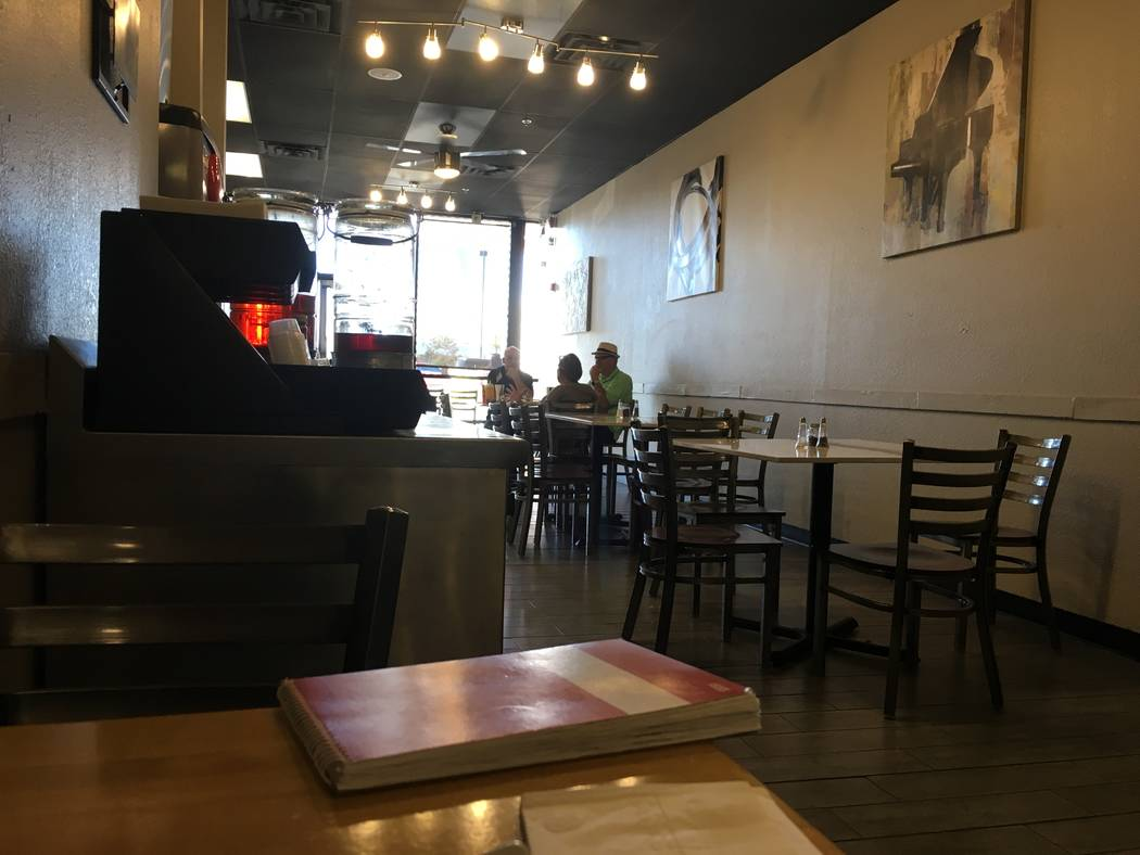 The dining room inside Flame Kabob on Nov. 6. Restaurant owner says he remodeled the interior of the restaurant last year. (Diego Mendoza-Moyers/View) @dmendozamoyers