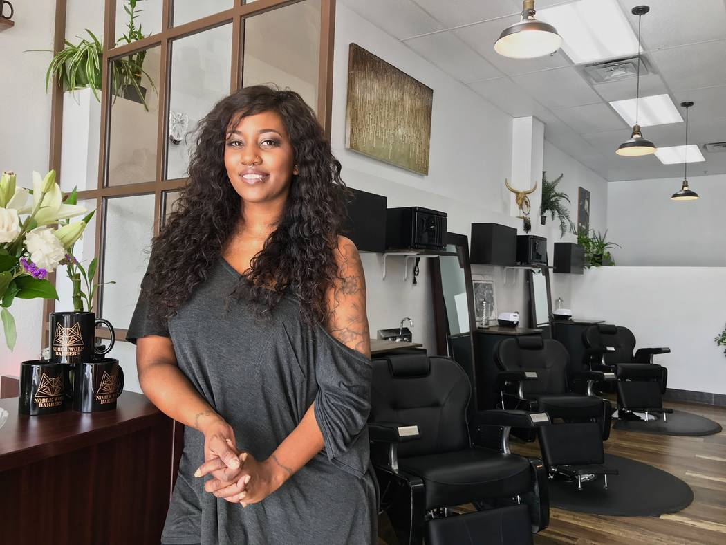 Roxy Collins Opened Her First Barbershop, Noble Wolf Barbers, At The End Of  September